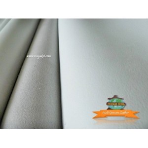 Buffalo Shoulder Leather White - Min 4sqft