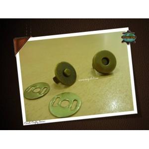 14mm Magnetic Button, Antique Bronze, 6sets