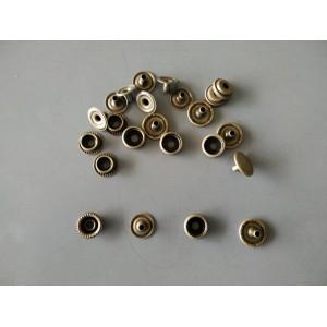 Antique Bronze Snap Buttons 13mm Type B- 10pcs