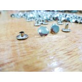 8mm Double Side Taiwan Rivet, Silver, 50 sets