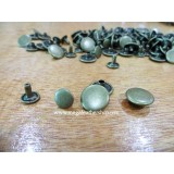 8mm Double Side Taiwan Rivet, Antique Bronze,50 sets