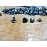 8mm Double Side Taiwan Rivet, Mixed Black, 50 sets