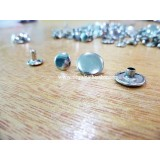 13mm Double Side Taiwan Rivet, Silver, 50 sets