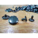 13mm Double Side Taiwan Rivet, Mixed Black, 50 sets