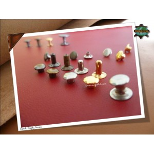 8mm Single Side Taiwan Rivets, Gold, 50 sets
