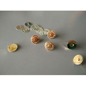 19mm Magnetic Button, Gold, 6sets