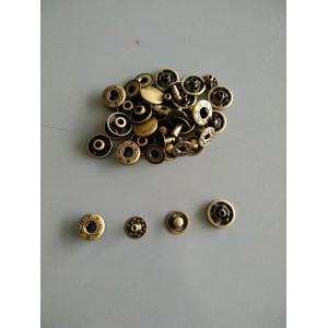 Bronze Colour Snap Buttons 13mm Type A - 10set