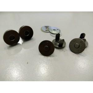 14mm Magnetic Button, Mix Black, 6sets