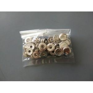 Silver Colour Snap Buttons 13mm Type A - 10pcs
