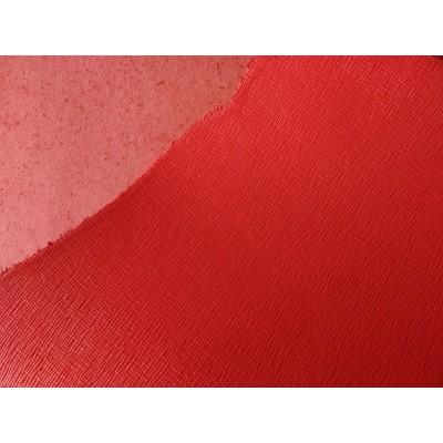 Korea Saffiano Leather Red - Min 4sqft