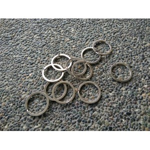 Key Ring Silver - 10pcs