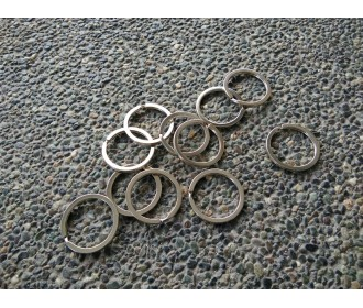 Key Ring Silver - 10pcs