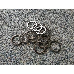 Key Ring Mix Black - 10pcs